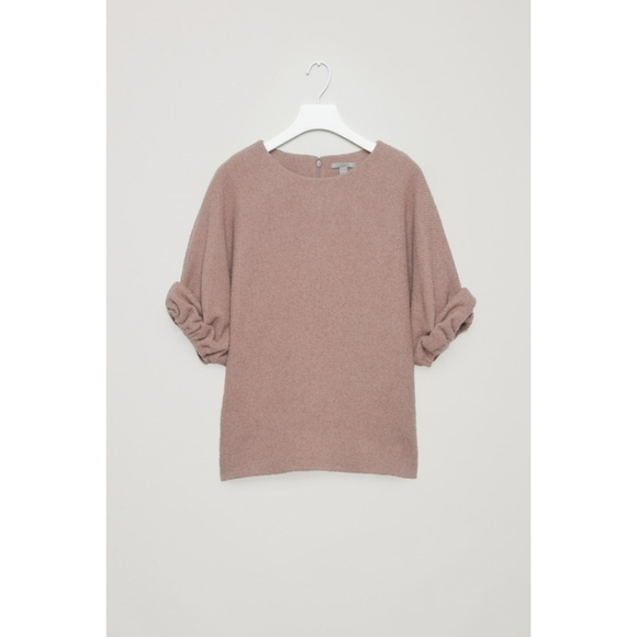 COS Tops - 🆕 COS Bouclé Top in Mauve With Gathered Cuffs